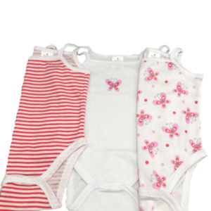 Fello-Pack de 3 Bodys Tirantes- Modelo Fly-Rosa