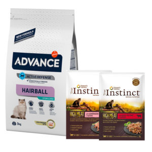 .ADVANCE Hairball Sterilized Pavo y Cebada : .Promociones - 3kg + 2 Sobres True Instinct de Regalo